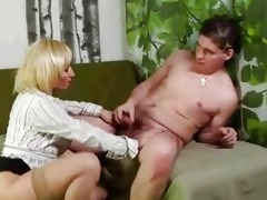 mature golden-haired bawdy cleft rub and sucks