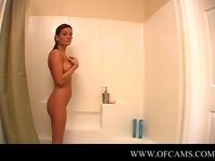 pornlygirl23 closes the washroom door...