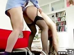 nasty schoolgirl gets a ejaculation after being