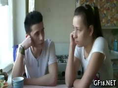 sweet-looking legal age teenager gal takes hard