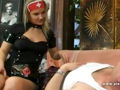 lewd nurse with big milk shakes fuck daddy