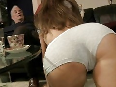 old man pumps mikas youthful booty gap