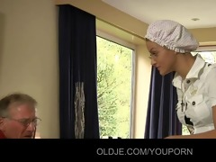 2 old farts sex with their nurse