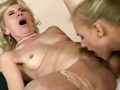 juvenile beauty licking old twat