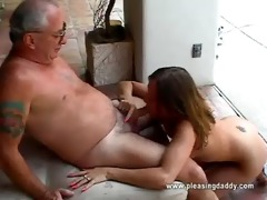 girl receives face hole screwed by old fellow