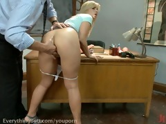 tara is tutored and butt drilled by professor