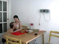 russian hotty suck and fuck with daddy for