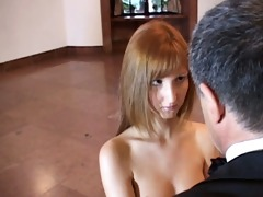 youthful redhead suggests bawdy cleft to mature