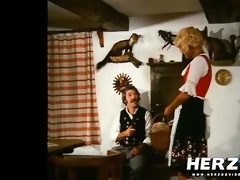 bavarian golden-haired gets eaten and screwed by