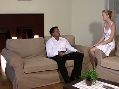 hawt golden-haired rides her bf\s daddy rod