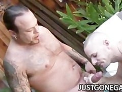 pool chap copulates his boss outdoors