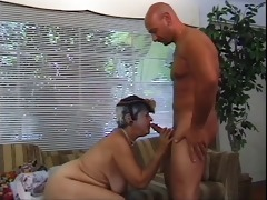 aged woman blows youthful dude&s hard shlong