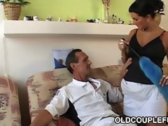 hot maid shares old penis