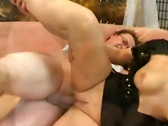 busty golden-haired in nurse uniform bonks old