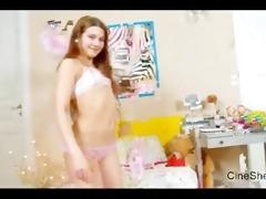 little cutie aurelia touches her cum-hole