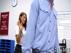 nice-looking schoolgirl fucked