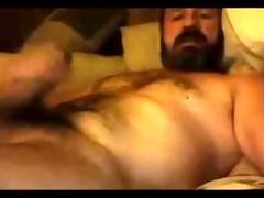 bushy sexy dad shootin that is cum