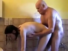 old man creampies a youthful gal