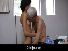 eager old stud copulates anal sexually excited