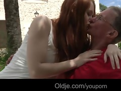 large dicked old guy bonks his lustful juvenile