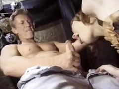 youthful wench acquires bulky oldman wang in