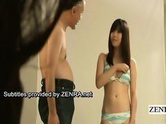 subtitle enf japanese bikini idol disrobes s garb