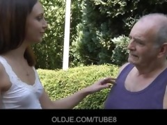 young russian beauty rides truly old fellow
