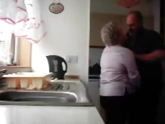 grandma and grandad fucking in the kitchen