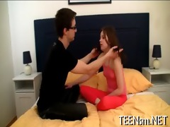 sexy legal age teenager seduces her boyfriend