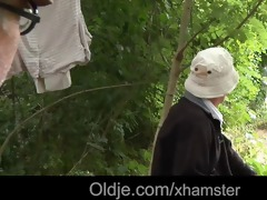 homeless oldmen fuck lustful teeny in the woods