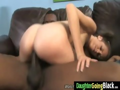 youthful daughter with nice ass screwed by a dark