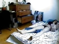 hidden webcam in bedroom of my sister caught her