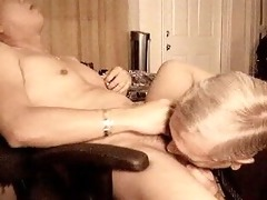 old man like to engulf ramrod and eat cum