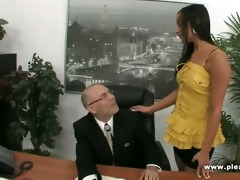 old boss bonks juvenile hawt secretary