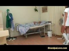 granddad sweetheart fucking a good brunette nurse