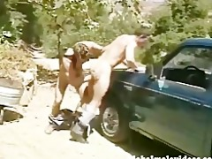 bareback anal outdoors