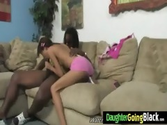 youthful daughter screamer copulates a darksome