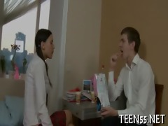 sexually excited legal age teenager fucks with