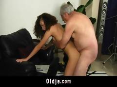 white haired grand-dad bonks lustful stephanie