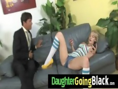 sexy daughter pecker engulf and interracial fuck