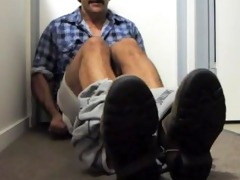 dad felt so fine after he is cum his giant load