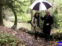 darksome hotty plays with an english cock