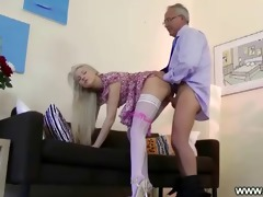 enjoyable playgirl seduces old dude