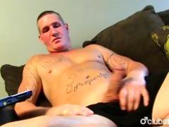 tattooed str lad maverick masturbating