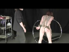i receive spanked and waxed on a servitude wheel