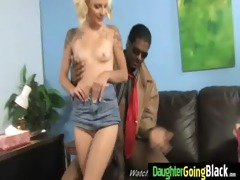 young daughter receives pounded by large darksome