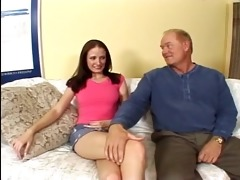 grandpapa bonks sexually excited whore on the