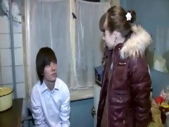 beautiful legal age teenager angel stands doggy